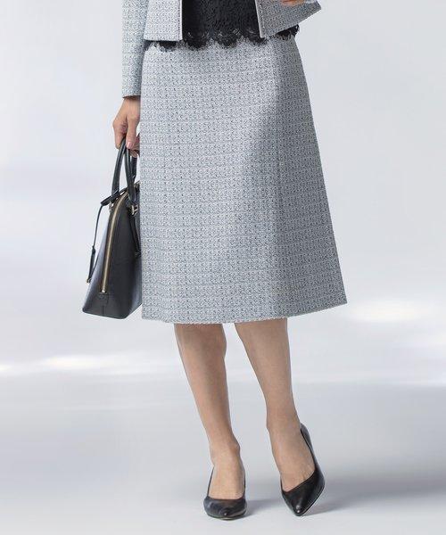 【セットアップ対応】ライトシャインツイード マーメイド スカート