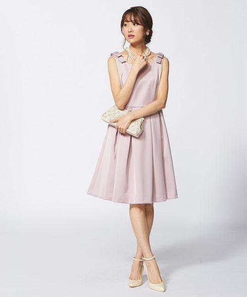 【結婚式やパーティに】シルキーサテンボンディング ドレス