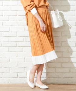 【WEB限定アイテム/セットアップ対応】ラインニット  スカート