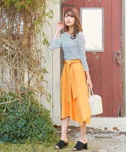 【サッシュベルト付】ライトツイル スカート