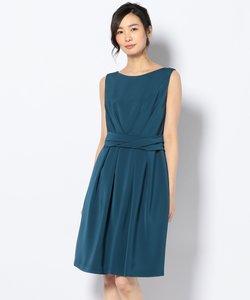 【結婚式やパーティに】シルキーライクサテン ドレス