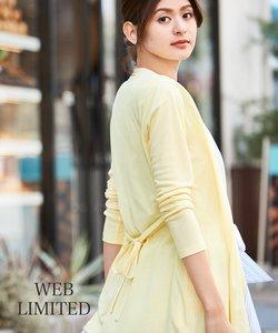 【2018初夏のWEB限定カラー有】ドライタッチフライスベルト付 カーディガン