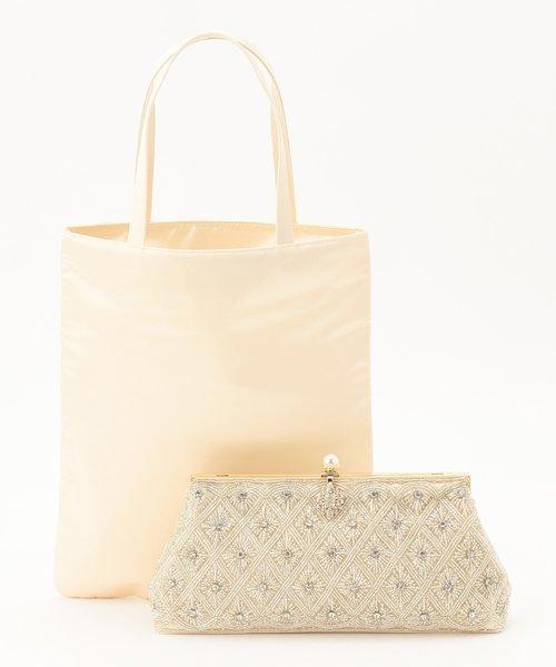 8d549aabb6d4 ... 【結婚式やパーティに】ビーズ刺繍バッグ&サブトート バッグ ...