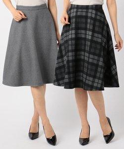 【2WAY】リバーシブルチェック スカート