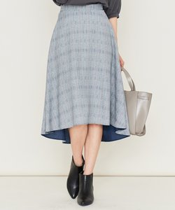 【洗える】リバーチェックプリント スカート
