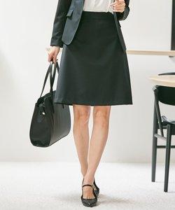 【セットアップ対応】ウォッシャブルウールストレッチ スカート