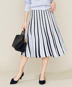 【Oggi2月号掲載】ポリエステルハイゲージ ニットプリーツスカート