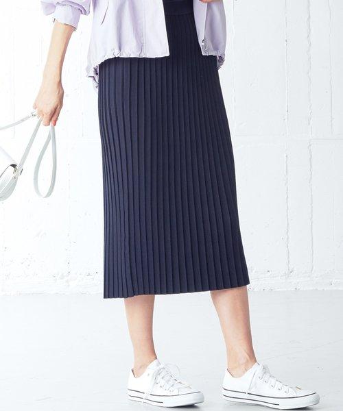 【洗える】ハイツイストVISPE ニットスカート