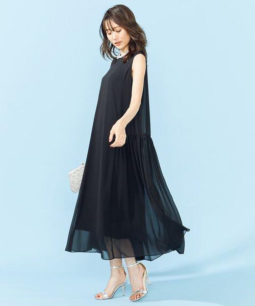 【PRIER】ノースリーブAラインドレス