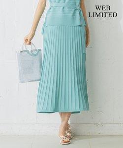 【WEB限定カラーあり】スタイルアップベルテッドニットアップ スカート