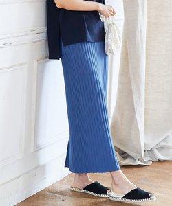 【組曲×Oggiコラボ】きれいめニットアップ リブニットスカート