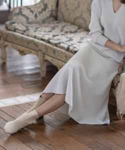 【洗える】ホールガーメント ニットフレアスカート