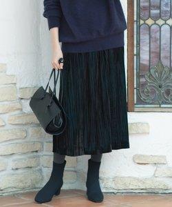 【VERYWEB掲載/KMKK】ベルベット ロングプリーツスカート(番号KL28)