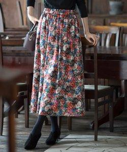 【KMKK】ミュルーズプリントサテン スカート