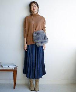 【洗える】プリーツ デニムスカート