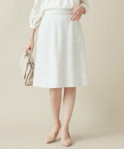 【セットアップ対応】ラメループモール ツイード スカート