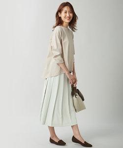 【シワ加工・洗える】Pe2WAYストレッチプリーツスカート