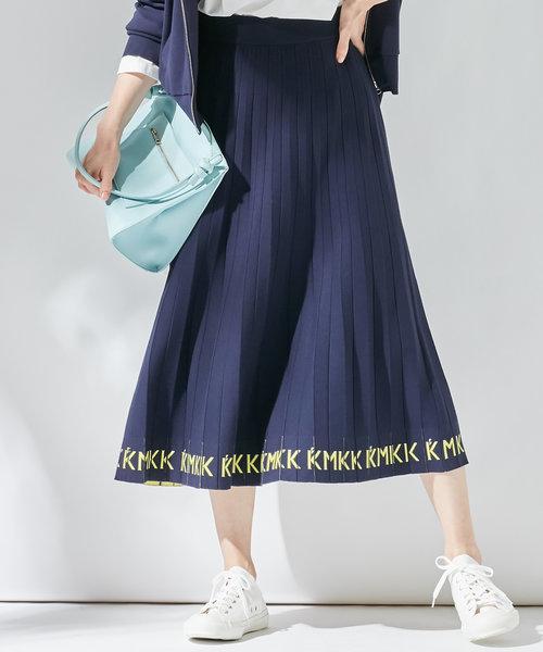 【KMKK】VIS/PE ニットアップ ニットプリーツスカート(KF24)