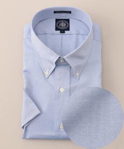 【キングサイズ】プレミアムプリーツピンオックス 半袖BDシャツ