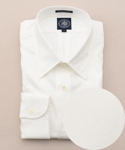 【キングサイズ】プレミアムプリーツピンオックスチップシャツ