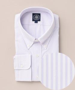 【キングサイズ】スーピマロンドンストライプボタンダウンシャツ