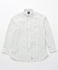 【キングサイズ】ユニフォームストライプオックス B.D.パチフラシャツ