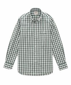 カーボンピーチ ギンガムチェック シャツ