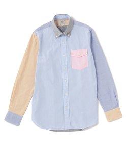 ポプリン クレイジーパターン ボタンダウン シャツ