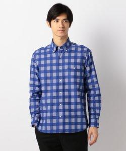 【Profilo】ドビーマルチチェック ボタンダウン シャツ(検索番号W160)