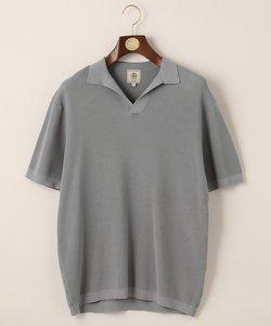 ハイゲージスキッパー ニットポロシャツ