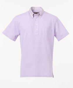 TC鹿の子インレイ 布帛衿ポロシャツ