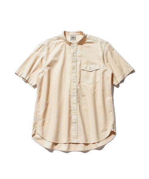 ガーメントダイリラックス バンドカラー オックスシャツ