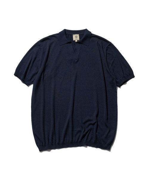 シルク スキッパーポロシャツ