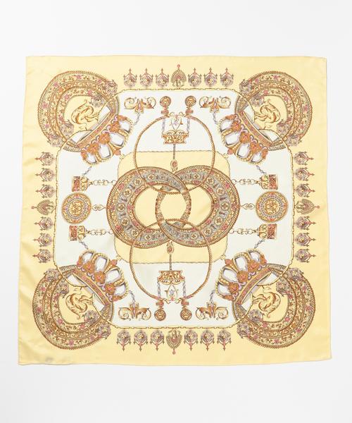 オーナメント柄シルクスカーフ