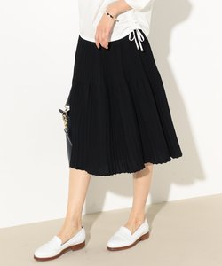 【洗える】プリーツデザインニット スカート