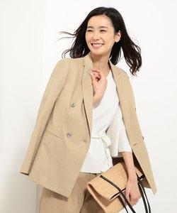【スーツ対応】コットンリネンコンパクトピンヘッド ブレザー