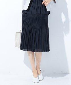 【洗える】ランダムプリーツジャージー スカート