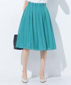 【洗える】レーシーストライプ スカート