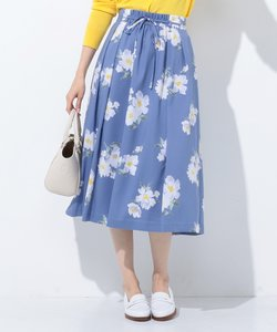 【洗える】Vintage Floral Print スカート