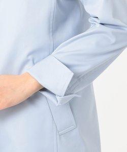 【撥水・花粉防止加工】ギザコーマツイル ショート ステンカラーコート