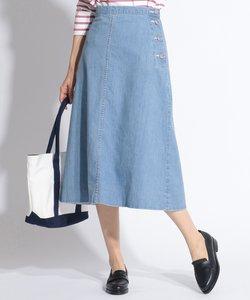 【洗える】8oz Stretch Denim スカート