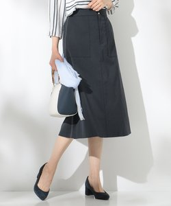 【洗える】T/Cリネンツイル スカート