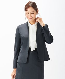 【スーツ】BAHARIYE ネイビー ノーカラージャケット