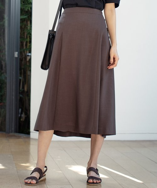 【洗える】マルソースパンボイル スカート