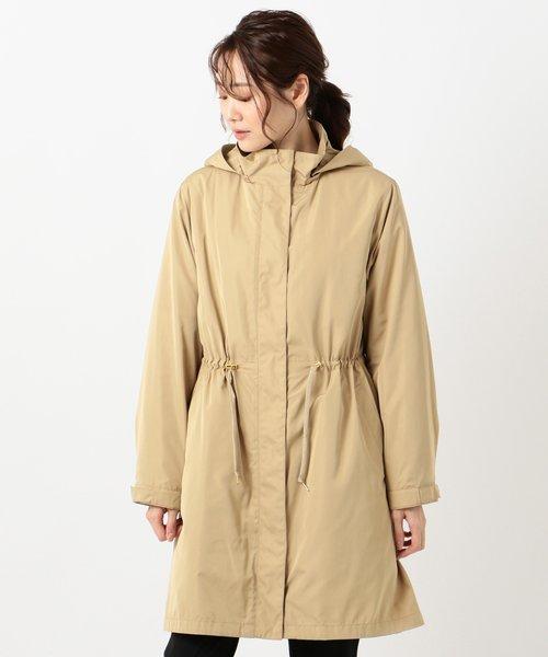 【撥水加工】シェイプメモリータフタII ロングコート