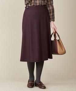 【洗える】ウールスムースジャージー フレア スカート