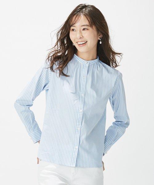 【洗える】SOMELOS JOYCE バンドカラー シャツ