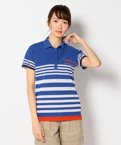 【WOMEN】【成田プロ着用】天竺カノコパネルボーダー ポロシャツ