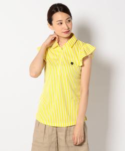 【WOMEN】ブリーズクールストライプ ポロシャツ