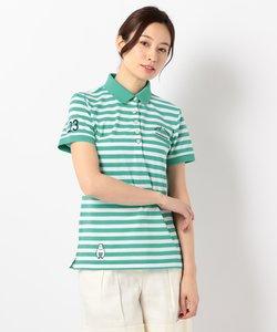 【WOMEN】【吸水速乾 / UV】マナード先染めボーダー ポロシャツ